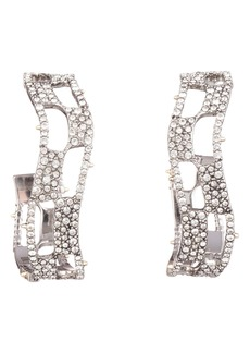 Alexis Bittar Modern Georgian Pavé Checkerboard Hoop Earrings