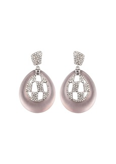 Alexis Bittar Modern Georgian Pav� Checkerboard Round Drop Earrings