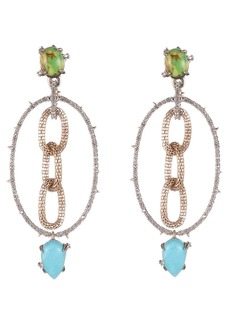 Alexis Bittar Multi-Stone Hoop Earrings