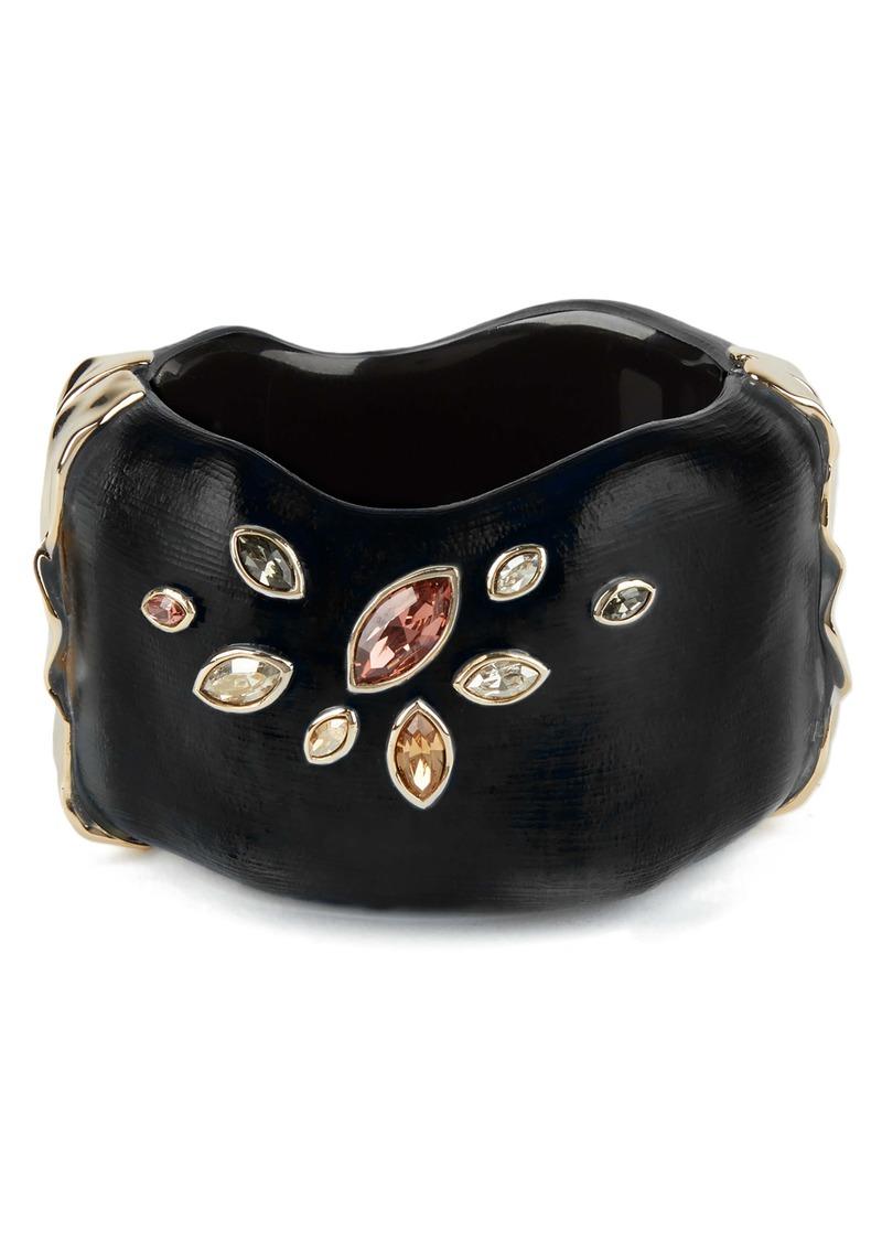 Alexis Bittar Navette Crystal Embellished Large Hinge Bracelet