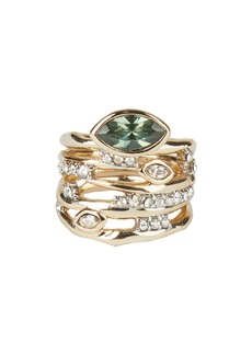 Alexis Bittar Navette Crystal Stack Ring