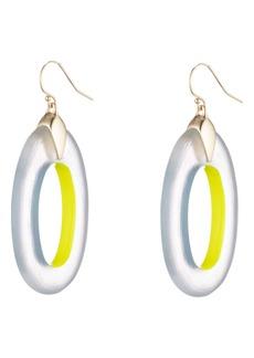 Alexis Bittar Neon Capsule Oval Hoop Drop Earrings