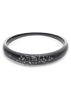 Alexis Bittar Noir Dust Skinny Tapered Bangle