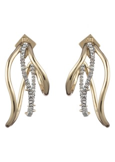 Alexis Bittar Orbit Wavy Hoop Earrings