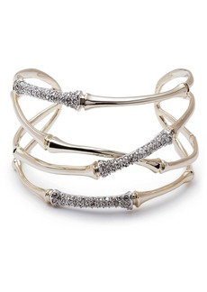Alexis Bittar Orbiting Bamboo Crystal Encrusted Cuff Bracelet