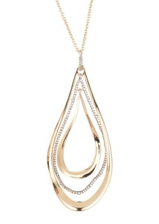 Alexis Bittar Orbiting Teardrop Pendant Necklace