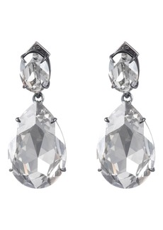 Alexis Bittar Oversized Crystal Teardrop Earrings