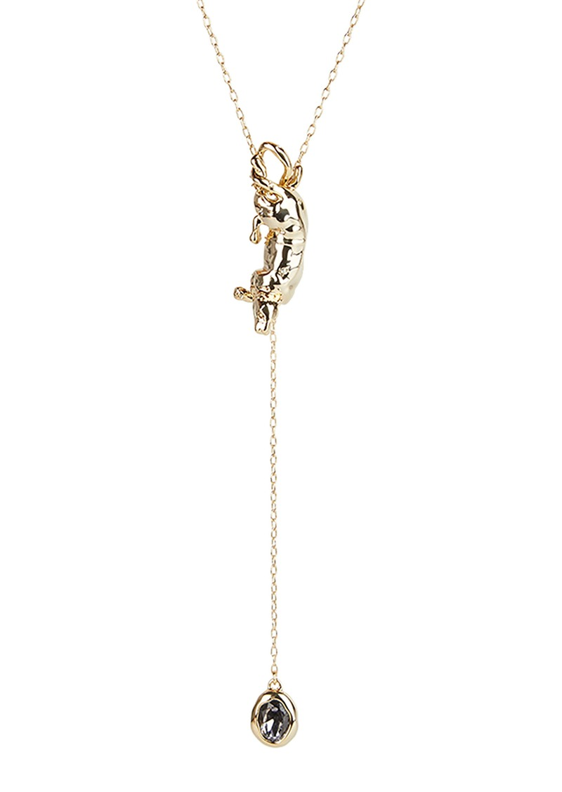 Alexis Bittar Panther Stone Y-Necklace