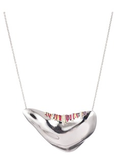 Alexis Bittar Pav� & Thread-Detail Pendant Necklace, 16""