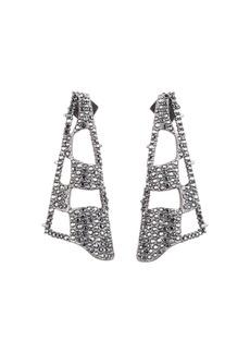 Alexis Bittar Pav� Checkerboard Fan Earrings