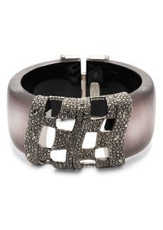 Alexis Bittar Pav�-Crystal & Lucite Hinge Bracelet