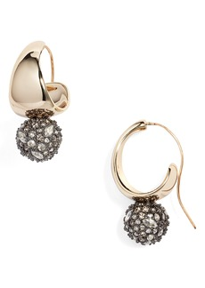 Alexis Bittar Pavé Crystal Hoop Earrings