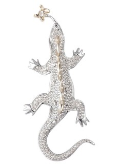 Alexis Bittar Pavé Crystal Lizard Pin