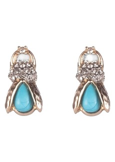 Alexis Bittar Pavé Crystal Scarab Stud Earrings
