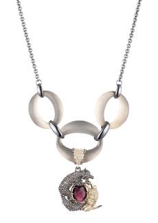 Alexis Bittar Pavé Fox & Hare Lucite® Link Necklace