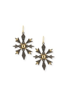 Alexis Bittar Pavé Snowflake Drop Earrings