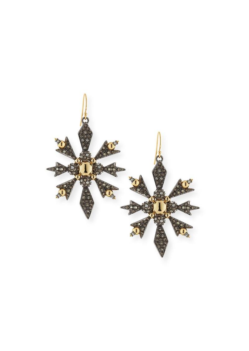 Alexis Bittar Pavé Snowflake Drop Earrings