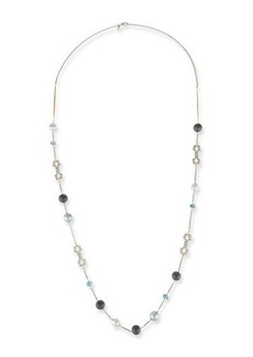 Alexis Bittar Pearly Crystal Lace Station Necklace