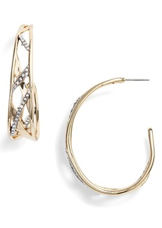 Alexis Bittar Plaid Hoop Earrings