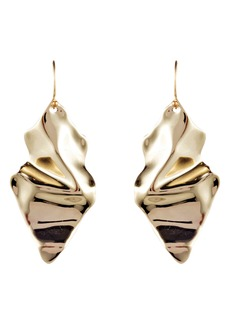 Alexis Bittar Retro Gold Collection Crumpled Drop Earrings