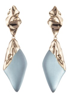 Alexis Bittar Retro Gold Collection Crumpled Gold Drop Earrings