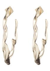 Alexis Bittar Retro Gold Collection Crumpled Hoop Earrings
