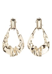 Alexis Bittar Retro Gold Collection Crumpled Teardrop Earrings