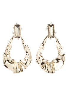 Alexis Bittar Retro Gold Crumpled Teardrop Earrings