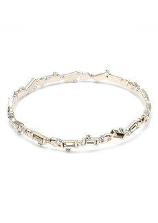 Alexis Bittar Retro Gold Collection Crystal Baguette Bangle
