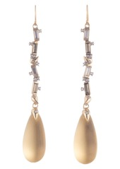 Alexis Bittar Retro Gold Collection Crystal Baguette Linear Drop Earrings