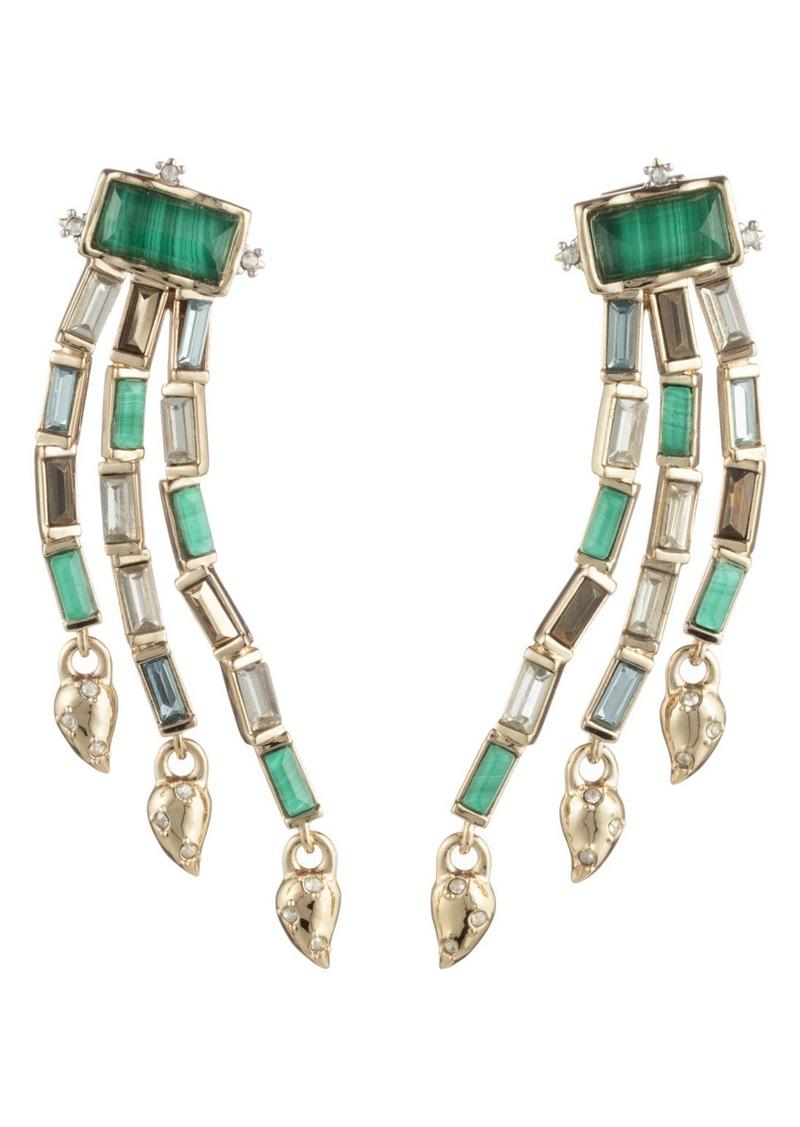 Alexis Bittar Retro Gold Collection Fancy Baguette Sculptural Earrings
