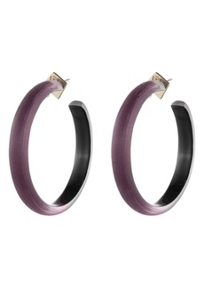 Alexis Bittar Retro Gold Collection Large Lucite® Hoop Earrings