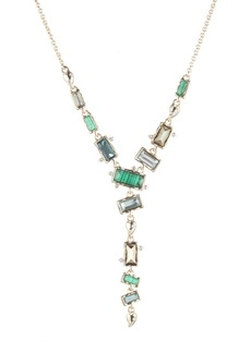 Alexis Bittar Retro Gold Collection Molten Metal Multi Stone Y-Necklace
