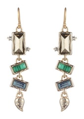 Alexis Bittar Retro Gold Collection Multi Stone Earrings