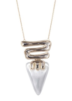 Alexis Bittar Sculptural Hinge Pendant Necklace
