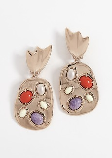 Alexis Bittar Sculptural Stone Cluster Clip Earrings