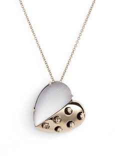Alexis Bittar Small Lucite® Grater Heart Pendant Necklace