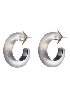 Alexis Bittar Small Thin Hoop Earrings