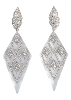 Alexis Bittar Spiked Crystal Encrusted Clip-On Earrings