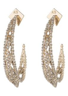 Alexis Bittar Spiked Crystal Encrusted Hoop Earrings