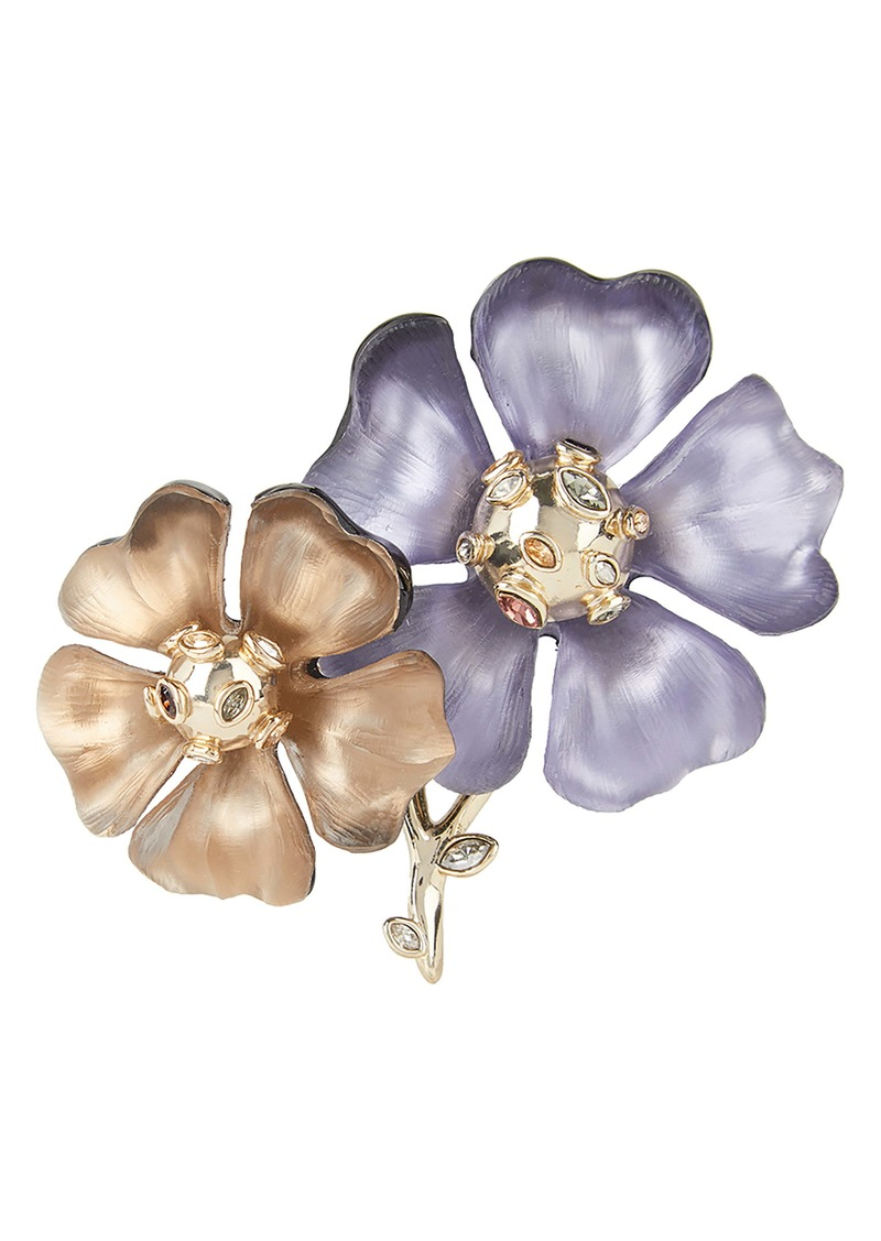 Alexis Bittar Sputnik Double Flower Pin