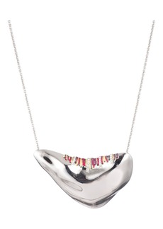 Alexis Bittar Stitch Pendant Necklace