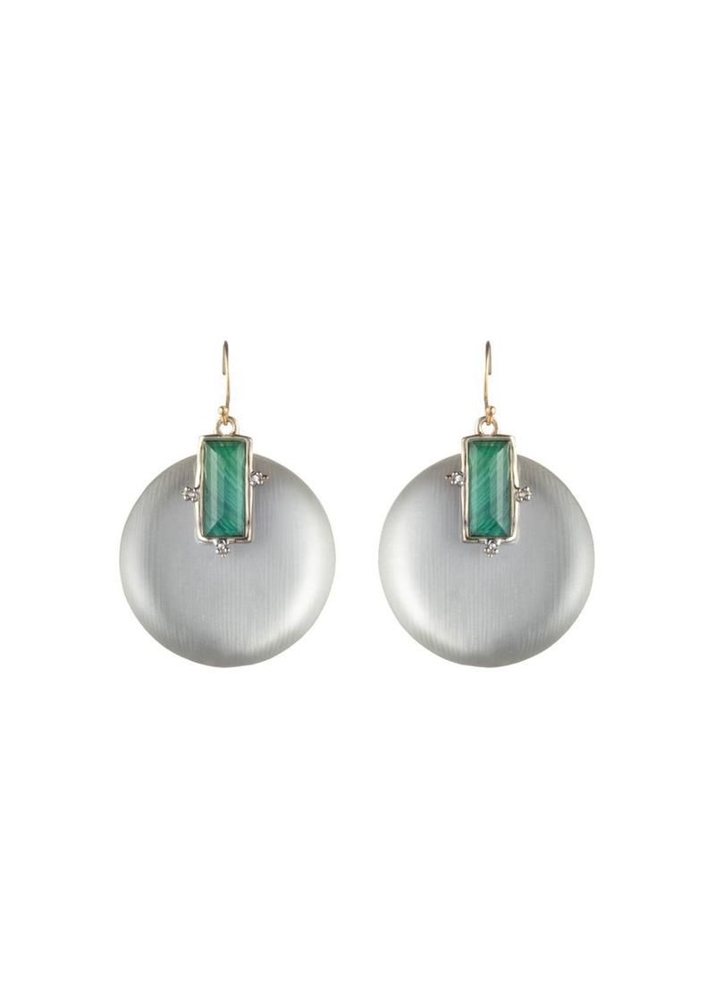 Alexis Bittar Stone Retro Wire Earrings
