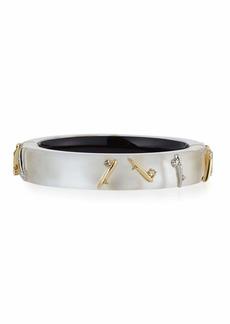 Alexis Bittar Thorn-Stud Lucite Bangle Bracelet