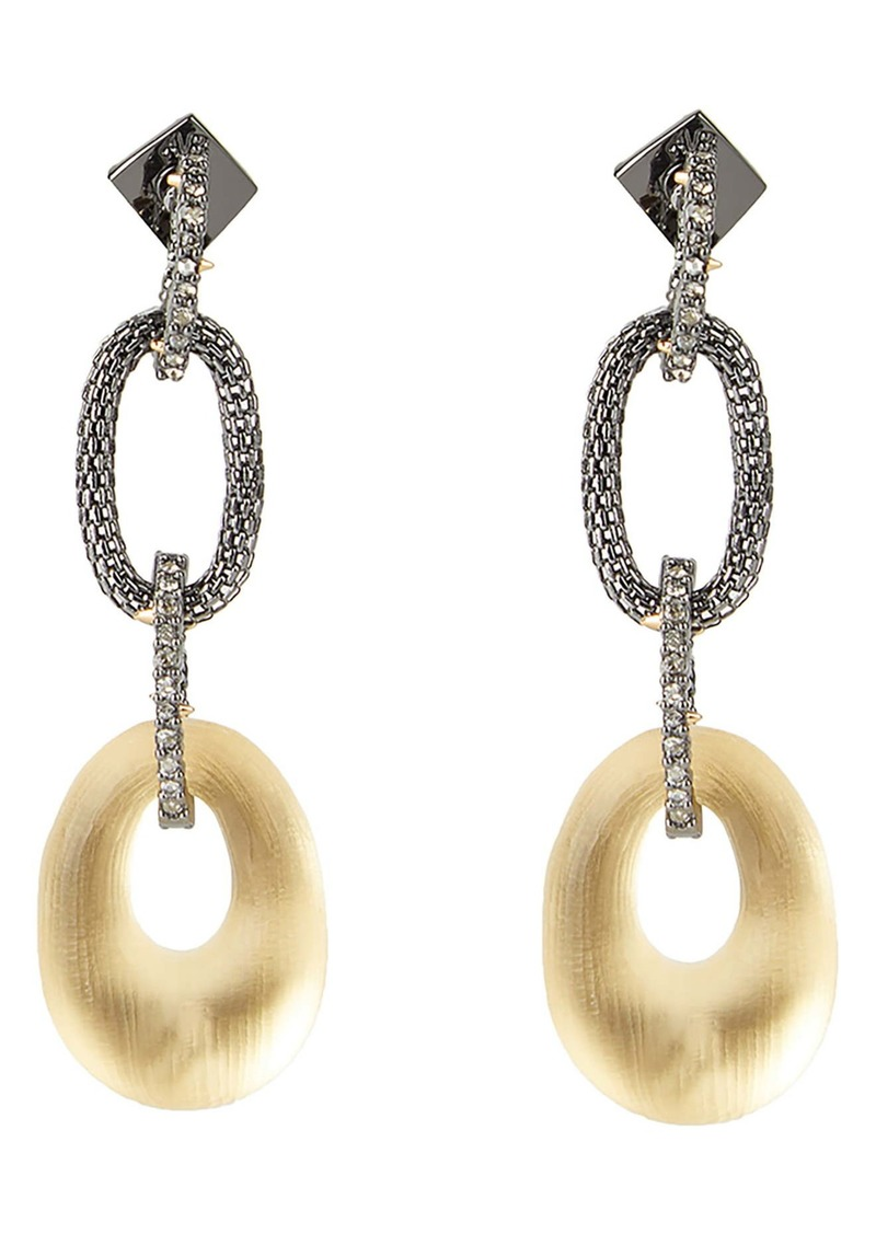 Alexis Bittar Tube Mesh Multi Link Earrings