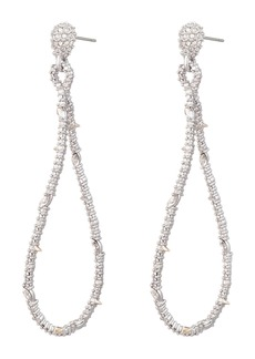 Alexis Bittar Twisted Linear Pavé Crystal Earrings