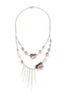 Alexis Bittar Two-Strand Crystal Bib Necklace