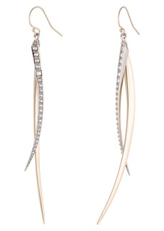 Alexis Bittar Two-Tone Crystal Drop Earrings
