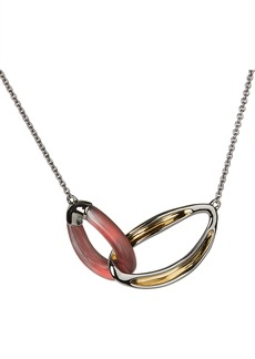 Alexis Bittar Two-Tone Double Link Necklace