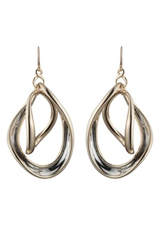 Alexis Bittar Two-Tone Orbiting Sculptural Earrings